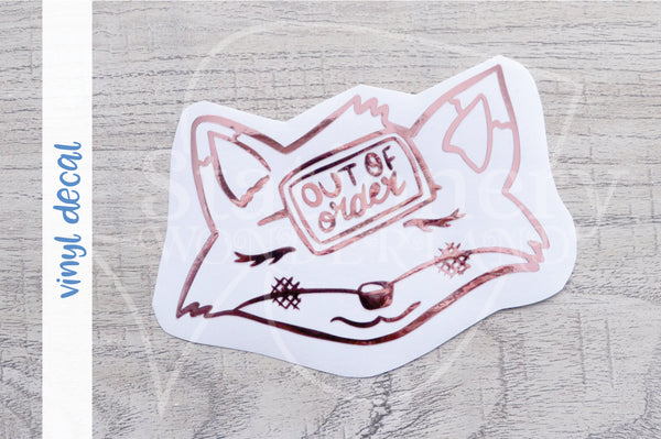 Foxy's out of order vinyl decal
