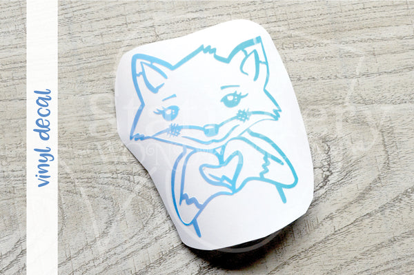 Foxy <3 you vinyl decal