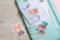 Foxy in Wonderland die cuts - Alice in Wonderland planner ephemera, Mad Hatter, Queen of Hearts