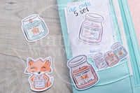 Candle addict Foxy die cuts - Foxy candles embellishments