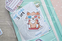 3D Foxy die cuts - Foxy movie embellishments