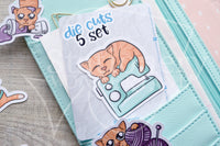 Foxy's crafting kitty die cuts - Foxy's ginger cat embellishments