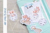 Foxy makes a wish die cuts - Stars Foxy embellishments