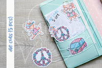 Flower Power Foxy die cuts - Peace and Fox Foxy embellishments