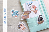 Pirate Foxy die cuts - Sea Foxy embellishments