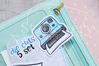 Foxy's instant memories die cuts - Photo and camera Foxy embellishments