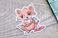 Bloody Foxy die cuts - Horror Foxy embellishments