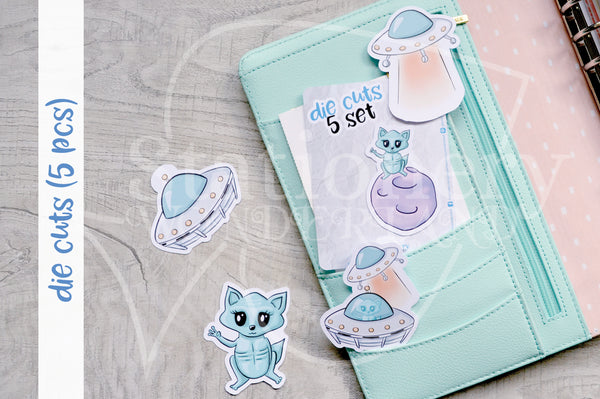 UFoxy die cuts - Alien Foxy embellishments