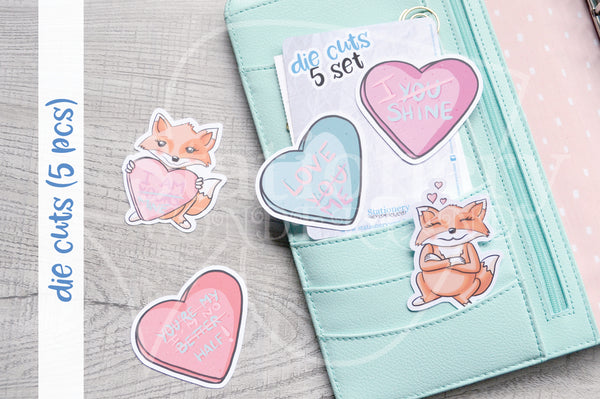 Love me Foxy die cuts - Self love Foxy embellishments