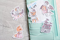 Happily Ever After Foxy die cuts - Fairy tale Foxy embellishments