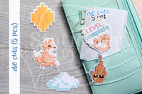8 bits Foxy die cuts - Video games Foxy embellishments