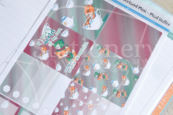Foxy in Wonderland Mad Hatter weekly kit