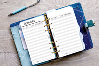 Digital download - Financial log inserts, expenses.