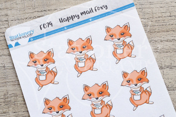 Happy mail Foxy functional planner stickers