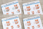 Foxy likes coffee, tea, fancy drinks, coffee to go functional planner stickers
