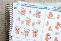 Foxy and money functional planner stickers