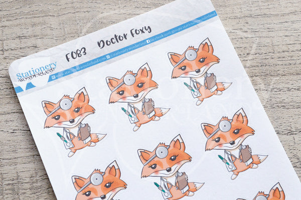 Doctor Foxy functional planner stickers