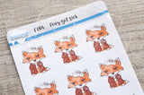 Foxy got sick functional planner stickers