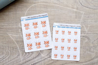 Foxy has an effin migraine functional planner stickers