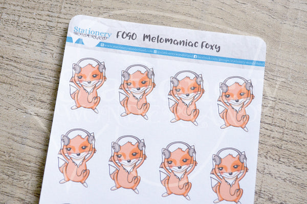 Melomaniac Foxy functional planner stickers