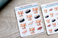 Foxy loves sushis functional planner stickers