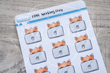 Working Foxy functional planner stickers