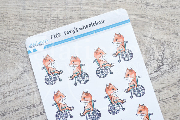 Foxy's wheelchair functional planner stickers