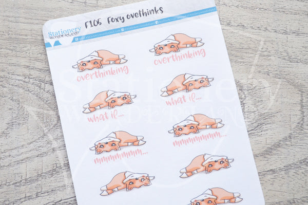 Foxy overthinks functional planner stickers