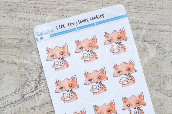 Foxy loves cookies functional planner stickers