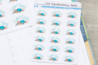 Supertired Foxy functional planner stickers