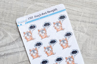 Foxy's dark thoughts functional planner stickers