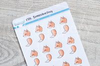 Semicolon Foxy functional planner stickers