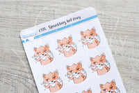 Sparkling hot Foxy functional planner stickers