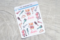 Hairdresser Foxy functional planner stickers