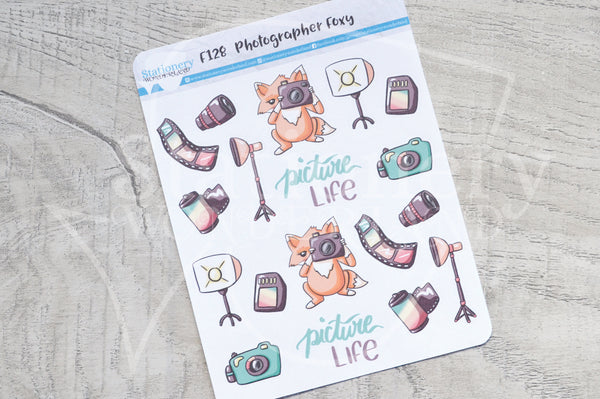 Photographer Foxy functional planner stickers