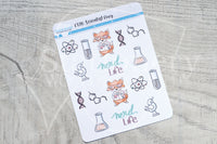 Scientist Foxy functional planner stickers