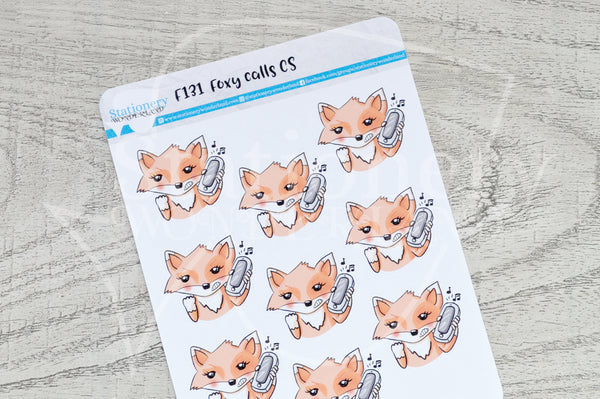 Foxy calls CS functional planner stickers