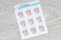 Chef Foxy functional planner stickers