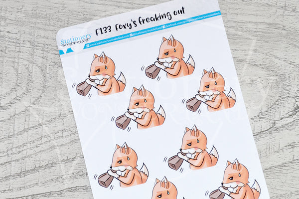 Foxy's freaking out functional planner stickers
