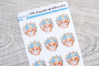 Foxy woke up before noon functional planner stickers
