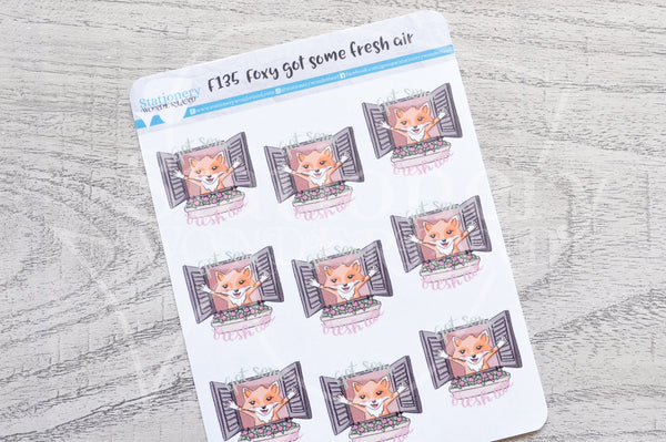 Foxy got some fresh air functional planner stickers
