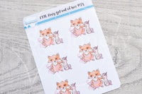 Foxy got out of her PJ's functional planner stickers