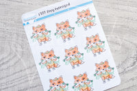 Foxy exercised functional planner stickers