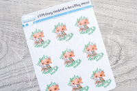 Foxy cooked a healthy meal functional planner stickers