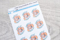 Foxy reached out to a loved one functional planner stickers