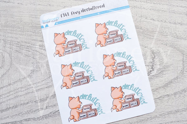 Foxy decluttered functional planner stickers