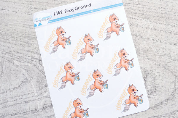 Foxy cleaned functional planner stickers