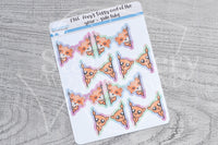 Foxy and Kitty vinyl side tabs - functional planner stickers - Foxy's Sassy End of the Year