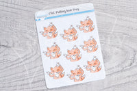 Pulling hair Foxy functional planner stickers