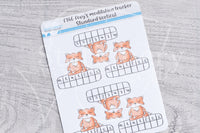 Foxy's meditation tracker functional planner stickers